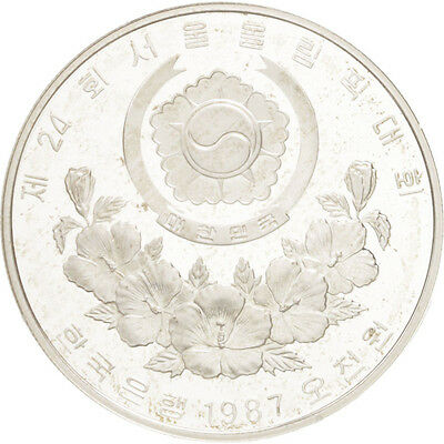[#46327] KOREA-SOUTH, 5000 Won, 1987, KM #61, MS(65-70), Silver, 32, 16.80