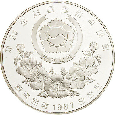 [#46329] KOREA-SOUTH, 5000 Won, 1987, KM #67, MS(65-70), Silver, 32, 16.80
