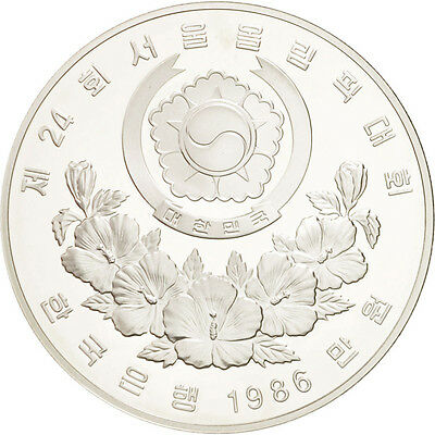 [#46322] KOREA-SOUTH, 10000 Won, 1986, KM #56, MS(65-70), Silver, 40, 33.61