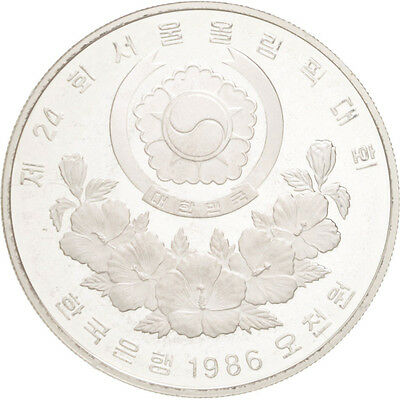[#46325] KOREA-SOUTH, 5000 Won, 1986, KM #54, MS(65-70), Silver, 32, 16.80