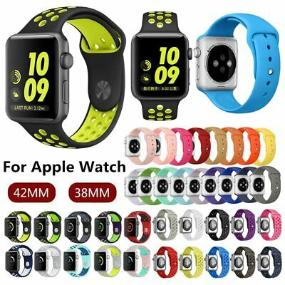 New Sports Silicone Bracelet Strap Band For Apple Watch iWatch Series 2/1 38/42m