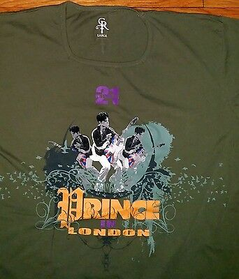 Prince 21 Nights in London T-shirt Chelsea Rodgers official brand Lg rare new