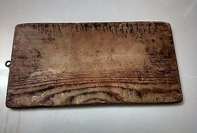 """Antique Primitive Pine Wood Country Kitchenware Bread Cutting Board ~14.25""""x7.5"""""""