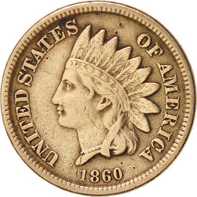 [#48636] United States, Indian Head Cent, 1860-P, KM:90