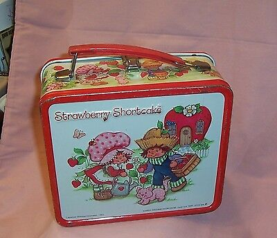 Vintage Strawberry Shortcake Metal Lunch Box with Thermos - Aladdin