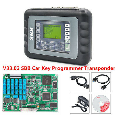 V33.02 SBB Auto Car Key Programmer Transponder Immobilizer OBD2 Multi-languages