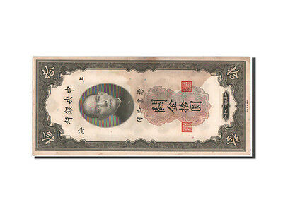 [#48104] China, Central Bank, 10 Customs Gold Units, 1930, KM:327d