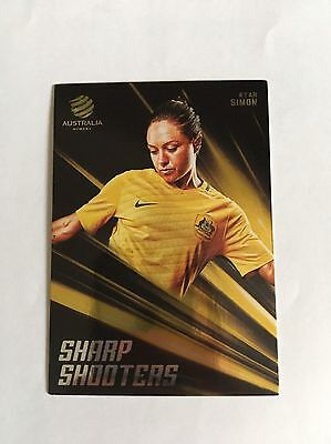 2016/17 FFA A-League Trading Cards - Kyah Simon (Sharp Shooters SH-02)