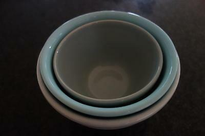 Trio Of Graduated Fowler Ware Vintage Mixing Bowls,sizes 18,24,30,can Post