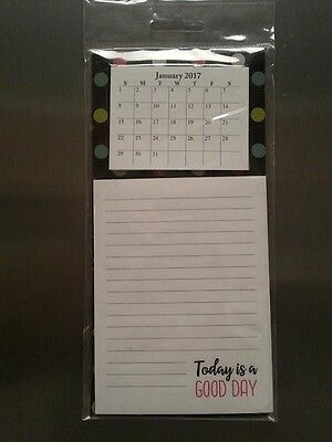 2017 Magnetic Refrigerator Calendar Note Pad Monthly Format Frig Magnet Notepad