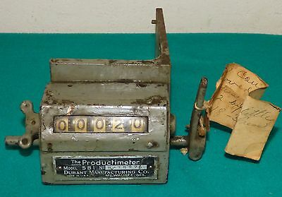 Vintage Durant Manufacturing Productimeter Counter MOD 5B1 Industrial Works
