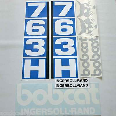 Bobcat 763H 763 H DECALS Stickers Skid Steer loader New Repro decal Kit