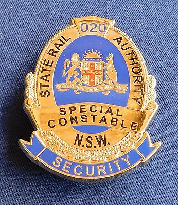 SRA NSW Security Special Constable replica badge Not Police Fire Emergency