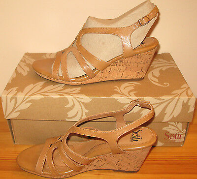 Sofft Corinth Platform Wedge Sandals ,8.5M, Luggage, $99, New in Box