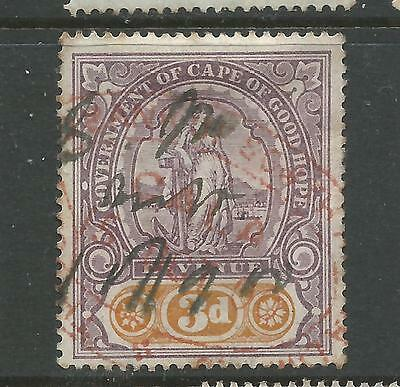 Cape of Good Hope Hope Standing Revenue Stamp Duty 3d Used
