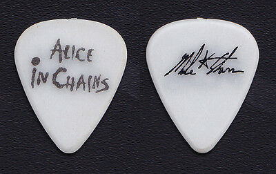 Alice in Chains Mike Starr Signature White Guitar Pick - 2009 Sober House
