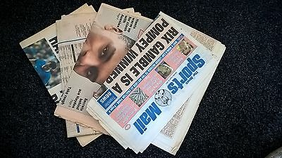 4x Portsmouth Sports Mail Newspapers of 1990's & 2001, collectable & nostalgic.