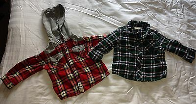 2 x Baby Boy Check Shirts, 3-6 Months, Baby M&co