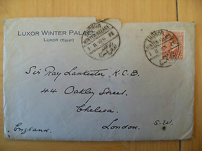 Letter & Photos Of Tombs Egypt To Sir Ray Lankester From His Brother Forbes 1928