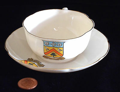 Goss Crested China Matching Cup And Saucer Cheltenham Crest Vgc!