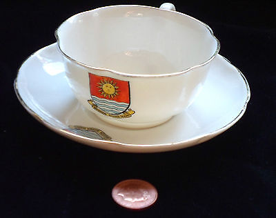 Goss Crested China Matching Cup And Saucer Weston-Super-Mare Crest Vgc!