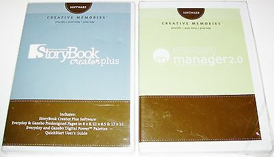NEW SEALED CREATIVE MEMORIES STORYBOOK CREATOR PLUS & MEMORY MANAGER 2.0 CDs