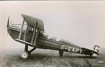 Very Rare Early Real Photograph Picture Of A Famous Dh.14