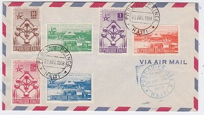 Haiti-1958 World International Exhibition, Brussel, Belgium First Day Cover