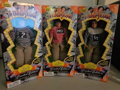 The Three Stooges Three Little Pigskins Limited Edition Exclusive Doll Set 1996
