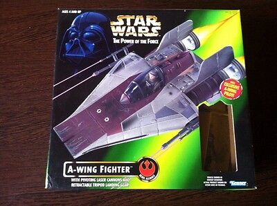 A-Wing Fighter,misb Ovp,mit Action Figur, Star Wars 1995 Kenner