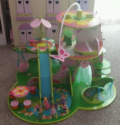 ELC wooden fairy playset with figures and furniture