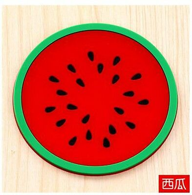 Jelly fruit shape silicone cup pad coaster slip insulation pad creative 766