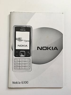Genuine Nokia 6300 User Guide - Instructions - Official Nokia Guide - Used