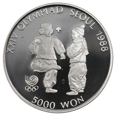 [#56609] KOREA-SOUTH, 5000 Won, 1987, KM #61, MS(65-70), Silver, 32, 16.81