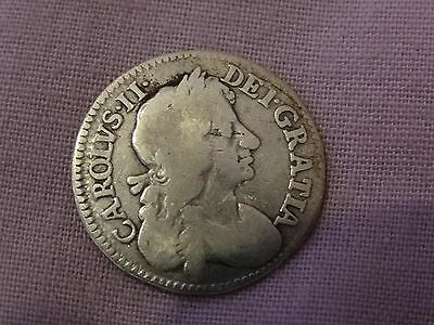 1675 Charles Ii Silver Maundy 4 Pence