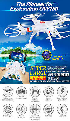 2.4G Gyro RC Drone Quadcopter With 2.0MP Wifi FPV HD Camera VS X8w Hot