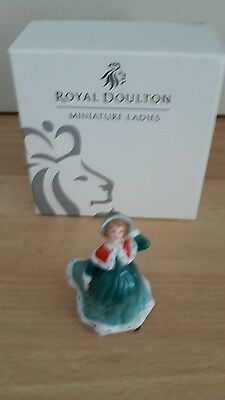 royal doulton figurines miniature Christmas wishes m223 boxed