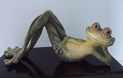 New & Boxed - Cheeky Long Legged Frog - Lying on Back.