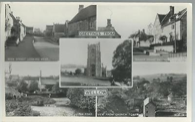 Old Postcard  Frith   Five Views     Wellow  Somerset    Not Posted