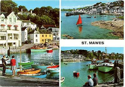 St. Mawes - Cornwall - Multiview - Postcard 1965