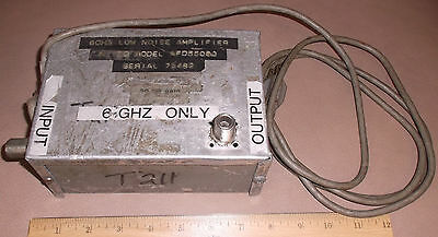 Miteq RF Power Amplifier 6GHz 50dB  AFD55060 microwave coax