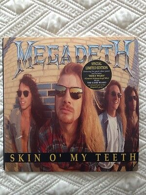 "Megadeth Skin O' My Teeth 7"" Vinyl With Poster And Game Board"