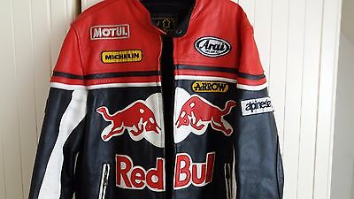 Mens RED BULL Racing leather motorcycle jacket