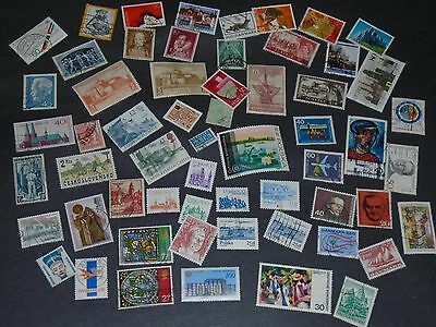 Over 125 European  Stamps - Off Paper