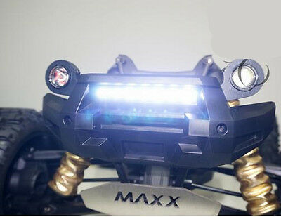 Front Bumper WHITE LED Lamp Lighting System for Traxxas X-MAXX XMAXX 77076-4