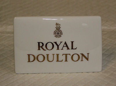 Ceramic Shop Display Advertising Sign Plaque - Royal Doulton