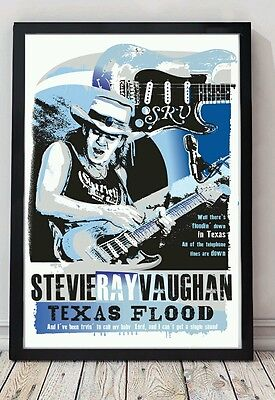 Stevie ray vaughan a4 size specially designed blues poster