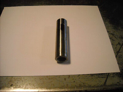 """Solid Socket / Sleeve / Arbor 1"""" O.D. w/ no.2 Morse Taper Hole for Lathe etc"""