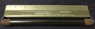 VINTAGE ROLL-A-LINER METAL ROLLING PARALLEL RULER NO Box Drafting Engineering