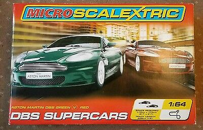 "Micro Scalextric ""DBS Supercars"" Complete and working"
